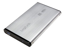 Gehäuse HDD 1x 6,4cm (2,5) USB 3.0 LogiLink Alu silber SATA