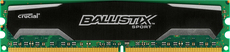 DDR3  8GB PC1600 CL10 Crucial OC Ballistix Sport retail