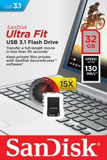 USB 32GB Speicher Drive SanDisk Ultra Fit USB3.1