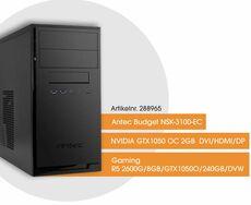 PC Gaming Ryzen5 3,9GHz 8GB 240GB SSD DVD-RW BeQuiet GTX1050