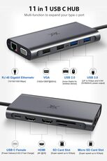 Docking Station USB-C Hub Triple Display 12 Ports USB Type C