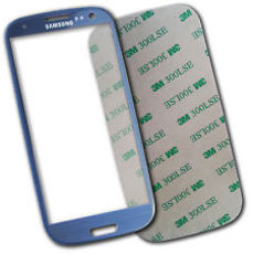 Samsung Galaxy S3 i9300 i9305 Front Glas Display blau