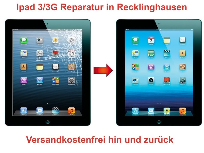 ipad 3 3g display reparatur toucheinheit in recklinghausen ebay. Black Bedroom Furniture Sets. Home Design Ideas