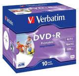 DVD-Rohlinge +R  4,7 GB Verbatim 16x printable 10er