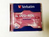 DVD-Rohlinge Doublelayer +R Verbatim 8,5Gb 1Stück 8 fach