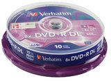 DVD+R Verbatim 8,5GB 10pcs Pack double 8x retail DVD+R