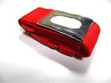 Koffer Gurtband Rot mit Namensschild
