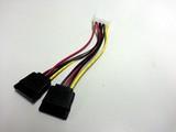 Kabel Strom 2x SATA Stromversorgungskabel intern 1x 13,3cm