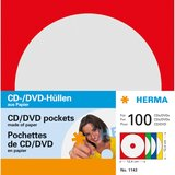 CD+DVD Hüllen single Jewelcase Herma 100Stk aus Papier