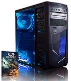 PC Gaming VIBOX A4 8GB 1TB AMD Radeon HD8370 blau+Game W10P