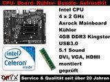 Aufrüstkit Bundle Kit Asrock Q1900M +CPU 4x2GHz+ 4GB DDR3