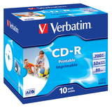 CD-Rohlinge Verbatim 52x 10er 700MB JewelCase printable