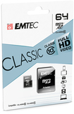 64GB SDXC Micro Card Emtec Class 10 inkl. Adapter