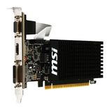 PCI-E 1GB GF GT710 MSI GDDR Low Profile VDA DVI HDMI pass Ausstellungsstück