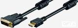 Kabel HDMI/DVI 18+1 M/M 2m HDTV