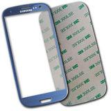 Samsung Galaxy S3 i9300 i9305 Front Glas Display blau