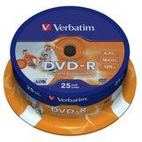 DVD-Rohlinge -R  4,7 GB Verbatim  25er 16x printable